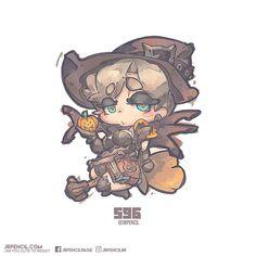 596 - Witch Mercy, Jr Pencil on ArtStation at https://www.artstation.com/artwork/qlq3n