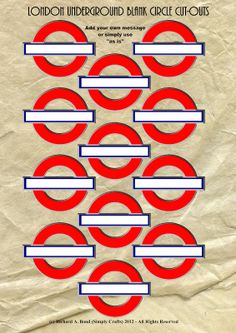 SIMPLY CRAFTS: *NEW* LONDON UNDERGROUND BLANK CIRCLES