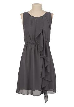 Chiffon Ruffle Tank Dress available at #Maurices