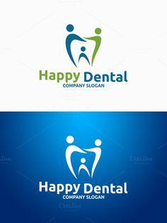 Happy Dental Logo. Logo Templates. $29.00