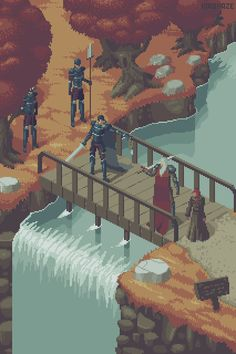 StuffNThings - kirokazepixel:   Bridge duel - kirokaze
