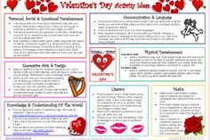 Keep the kids busy and help them to learn about Valentines Day with this FREE activity ideas sheet! Links activity ideas to the areas of learning and development! Montessori Activities, Free Activities, Children Activities, Valentines Day Activities, Valentine Day Crafts, Christmas Crafts, Maths Display, Learning Stories, Lesson Plans For Toddlers