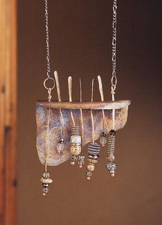"Necklace | Mary Hettmansperger.  ""Bead Shelf"""
