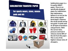 Getting Started in Dye Sublimation Business with Sublimation Paper(3)