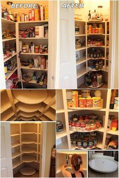 How to Make Lazy Susan Style Pantry #tips #organizing #Lazy_Susan