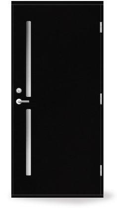 アイエムドア スウェーデンNDシリーズ。スタイリッシュなブラックです。断熱性・気密性にすぐれています。#玄関ドア #ヨーロピアン風 #黒い玄関ドア