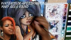 ~HORSES, CARNIVALS, & MORE~ WATERCOLOR ILLUSTRATION  SPEED PAINTING MARY...