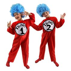 Dr. Suess Thing 1 and Thing 2 Child Costume. Me and jayden totally need to be this for Halloween this year!