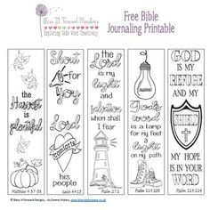 Bless It Forward Ministries - Free Printables<br> Bible Journaling For Beginners, Bible Study Journal, Art Journaling, Scripture Study, Bible Bookmark, Bibel Journal, Quotes Arabic, Bible Coloring Pages, Printable Bible Verses