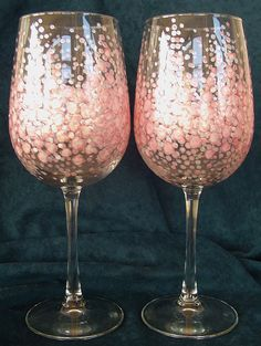 Hand Painted Wine Glasses Artistic Impressionistic by owenfinearts, $40.00