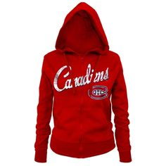 7dd01841a59 NHL Montreal Canadiens 5th  amp  Ocean by New Era Women s Core Fleece Full  Zip Hoodie