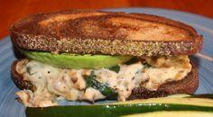 Vegetarian Sandwich: Avocado, Spinach, Shiitake mushroom, Portabello, White wine...Yummy.