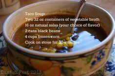 The Daniel Fast - Taco soup.