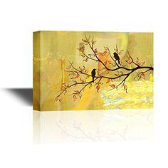 wall26 - Canvas Wall Art - Two Birds on Tree Branches on ... https://www.amazon.com/dp/B01MY4TUZT/ref=cm_sw_r_pi_dp_x_ufi3yb43S20EX