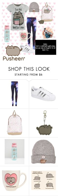 """""""Pusheen"""" by people-are-annoying ❤ liked on Polyvore featuring Pusheen, adidas, Hot Topic and YouGetMeRight"""