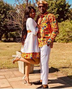 African Print Dresses, African Print Fashion, Ethnic Fashion, African Dress, Fashion Prints, Couples African Outfits, Couple Outfits, Black Love Couples, Ghana Wedding