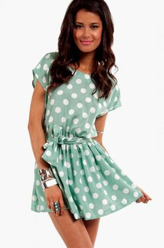 want this! #socialblissStyle #polkadots #dress #fashion