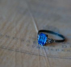 Art Deco Ring  Engagement Style Ring  1920s by MaeClaraVintage