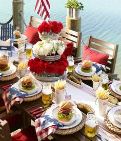 American inspired table setting