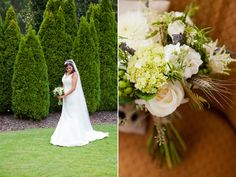 """We loved working with Kristen and her mom, Joni, during the planning of her wedding. Kristen's bouquet incorporated scabiosa, wheat, roses, and berries to give it a """"thrown together"""" look. LOVE!   Florals by The Sonnet House Photography by J Messer Photography"""