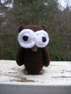 Small stuffed crochet owl custom made to order by luvbuzz on Etsy,