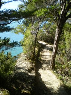 Lovely path along the seaside with a great view over the Ocean