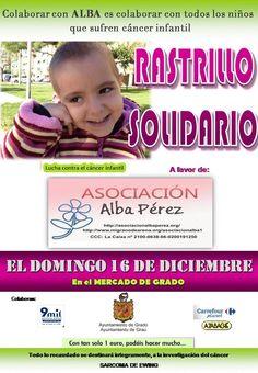 #Mercadillo #Solidario a favor de la Asoc. Alba Pérez de lucha contra el #Cancer Infantil. El 16/12/12 en #Grado, #Asturias