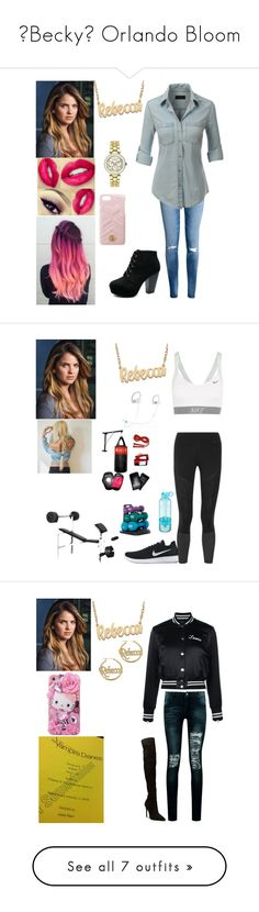 """""""🦋Becky🦋 Orlando Bloom"""" by rroyalserena ❤ liked on Polyvore featuring H&M, LE3NO, Alison & Ivy, Versus, Gucci, beckyevans, rebeccaevans, jewelry, necklaces and ivy jewelry"""