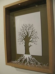 Wow. This really has many levels of coolness. Using the cutout paper and it represents the tree below the surface that you can't see ie. The roots :) poetry with paper here.: