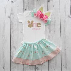 Some Bunny is One Outfit - bunny first birthday outfit girl, bunny ears headband, easter birthday girl, bunny 1st birthday outfit girl pink by noellebydesign on Etsy https://www.etsy.com/listing/234923253/some-bunny-is-one-outfit-bunny-first