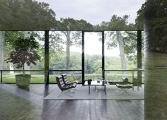 Philip Cortelyou Johnson (American, 1906-2005) | The Glass House for Philip Johnson and David Whitney | 199 Elm St, New Canaan, Connecticut | 1949-1986 | Photo: Matthew Williams
