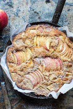 Cardamom Cognac Apple Cake: not only is it delicious, this cake is simple, moist - almost bread pudding like, & not overly sweet, yum | @halfbakedharvest.com