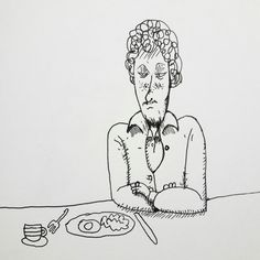 """Unimpressed"" sketch by Nick Gibney"