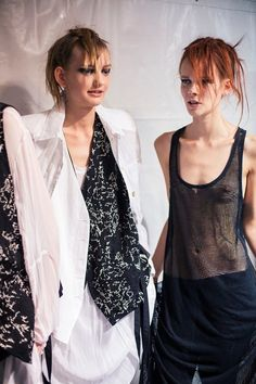 Ann Demeulemeester Spring 2015 by Jacques Habbah