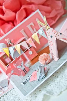 ExplosionsboxGeburtLea_SU_07 Diy And Crafts, Crafts For Kids, Paper Crafts, Kids Cards, Baby Cards, Card In A Box, Stampin Up, Exploding Box Card, Karten Diy