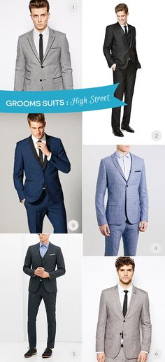 Budget Friendly High Street Grooms Suits | www.onefabday.com