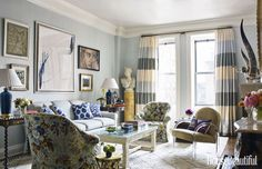 This Manhattan apartment was actually put together using catalogs, websites, and thrift shops.