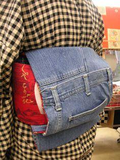 DENIM OBI made from old Jeans !!!!! * Visit us de Kimono: Tokyo135 ° shimokita