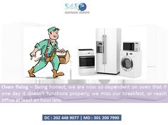 We are now so dependent on oven that if one day it doesn't functions properly. So, why you want to take such risk when your oven can be fixed like never before within a perfect deadline with S&E. For more info - http://www.appliancerepairs24x7.com/appliance-repair/oven-repair/
