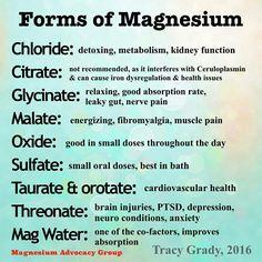 types of magnesium