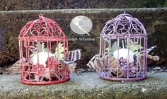 How to make bird cage centerpieces with the amazing Chalk It Up Paints from Earth Safe Finishes.