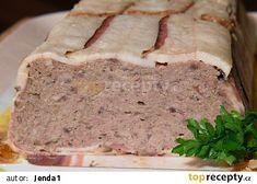 Masová paštika recept - TopRecepty.cz Meatloaf, Banana Bread, Sandwiches, Food And Drink, Desserts, Tailgate Desserts, Deserts, Meat Loaf, Dessert