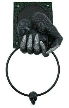 Gothic towel holder