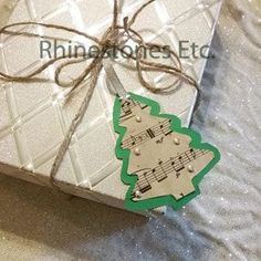 Easy to make DIY Christmas Tags! Click here for instructions: https://www.rhinestonesetc.com/how-to/diy-christmas-tags