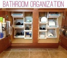 Under your sink organizing. Looks like tool bins. Would work in the pantry too | best stuff