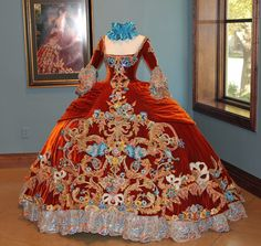 Exhibition of Linda Leyendecker Gutierrez ballgowns. From Laredo, TX, this designer creates these one of a kind, hand sewn ballgowns for the Martha Washington Society debutantes.