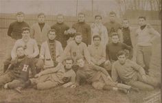 Rare Early Football Team Photograph - 1908 Hartford Acorns - Photography from Oh. on Ruby Lane