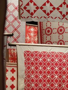 Red and white. #vintage #quilts