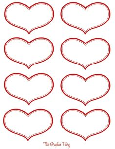 Free Printable Heart Labels!