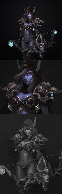 World of Warcraft Lady Sylvanas Windrunner by Z